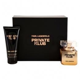 Комплект за жени Karl Lagerfeld Private Klub - Парфюмна вода EDP 45 мл + Лосион за тяло BL 100 мл-Парфюми