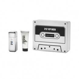 Комплект за мъже Carolina Herrera 212 VIP FOR MEN - Тоалетна вода EDT 100 мл + Душ гел SG 100 мл-Парфюми