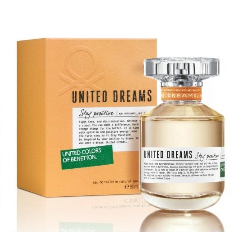 Benetton UCB United Dreams Stay Positive - Тоалетна вода за жени EDT 80 мл-Парфюми