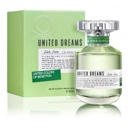 Benetton UCB United Dreams Live Free - Тоалетна вода за жени EDT 80 мл-Парфюми