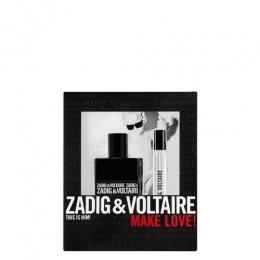 Комплект за мъже Zadig&Voltaire This Is Him! - Тоалетна вода EDT 50 мл + 10 мл-Парфюми