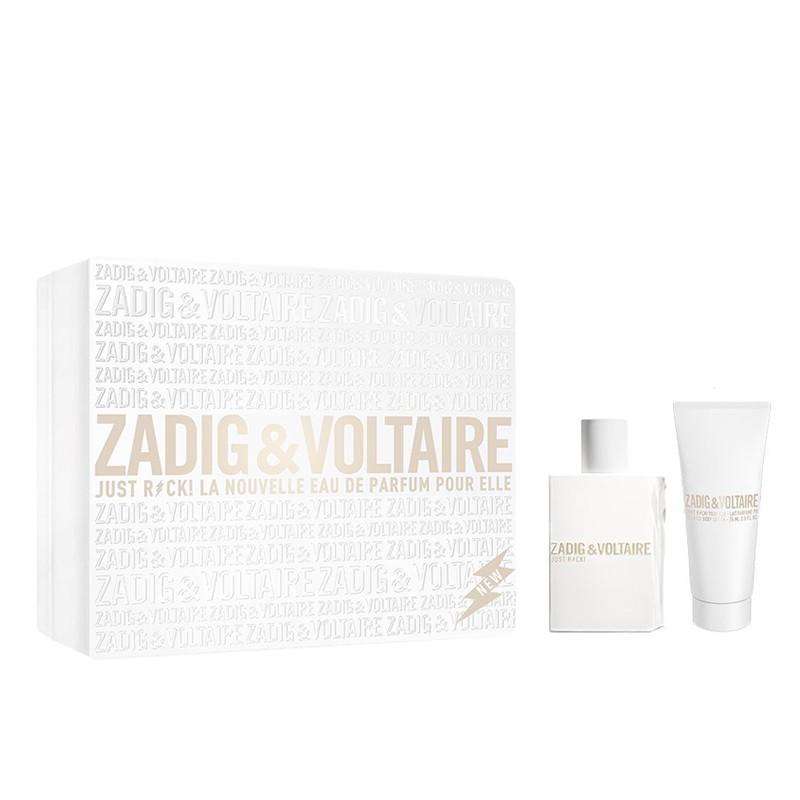 Комплект за жени Zadig&Voltaire Just Rock! FOR HER - Парфюмна вода за жени EDP 50 мл + Лосион за тяло BL 100 мл-Парфюми