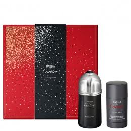 Комплект за мъже Cartier Pasha Edition Noire - Тоалетна вода EDT 100 мл + Део-стик DEO 75 мл-Парфюми