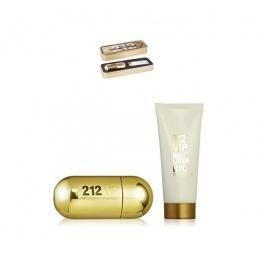 Комплект за жени Carolina Herrera 212 VIP - Парфюмна вода EDP 50 мл + Лосион за тяло BL 75 мл-Парфюми