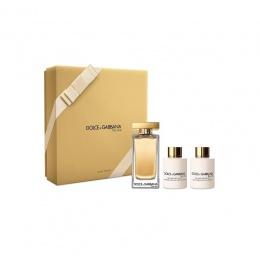 Комплект за жени Dolce&Gabbana The One - Тоалетна вода EDT 100 мл + Лосион за тяло BL 100 мл + Душ гел SG 100 мл-Парфюми