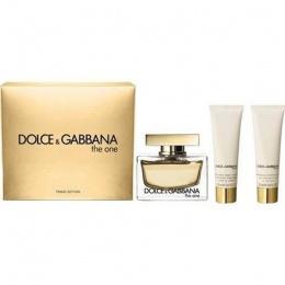 Комплект за жени Dolce&Gabbana The One - Парфюмна вода EDP 75 мл + Лосион за тяло BL 50 мл + Душ гел SG 50 мл-Парфюми