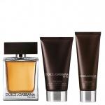 Комплект за мъже Dolce&Gabbana THE ONE - Тоалетна вода EDT 100 мл + Афтършейв балсам ASB 50 мл + Душ гел SG 50 мл-Парфюми
