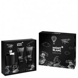 Комплект за мъже Mont Blanc Legend - Тоалетна вода EDT 100 мл + Афтършейв балсам ASB 100 мл +Душ гел SG 100 мл-Парфюми