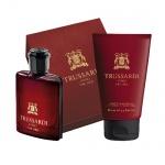 Комплект за мъже Trussardi Uomo The Red - Тоалетна вода EDT 50 мл + Душ гел SG 100 мл-Парфюми