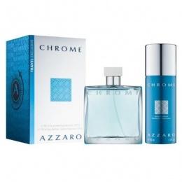 Комплект за мъже Azzaro Chrome - Тоалетна вода EDT 100 мл + Дезодорант DEO 150 мл-Парфюми