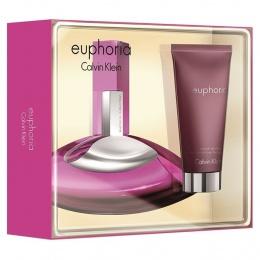 Комплект за жени Calvin Klein Euphoria - Парфюмна вода EDP 30 мл + Лосион за тяло BL 100 мл-Парфюми