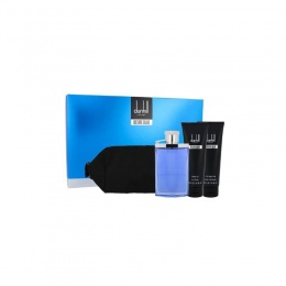 Комплект за мъже Dunhill Desire Blue - Тоалетна вода EDT 100 мл + Афтършейв балсам ASB 90 мл + Душ гел SG 90 мл + несесер-Парфюми