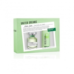 Комплект за жени Benetton UCB United Dreams Live Free - Тоалетна вода EDT 80 мл + Дезодорант DEO 150 мл-Парфюми