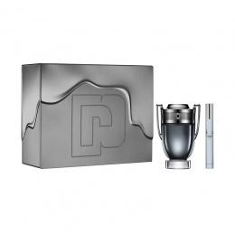 Paco Rabanne INVICTUS INTENSE - Комплект за мъже - Тоалетна вода 100 мл + Travel spray 10 мл-Парфюми