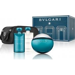 Bvlgari AQVA - Комплект за мъже - Тоалетна вода EDT 100 мл + Афтършейв балсам ASB 75 мл + Душ гел SG 75 мл + Несесер-Парфюми