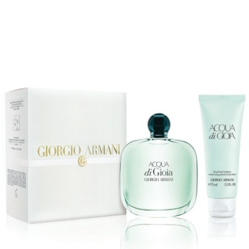 Комплект за жени Armani Acqua di Gioia - Парфюмна вода EDP 100 мл + Лосион за тяло BL 75 мл-Парфюми