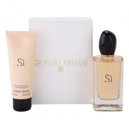 Giorgio Armani Si - Комплект за жени - Парфюмна вода EDP 100 мл + Лосион за тяло BL 75 мл-Парфюми