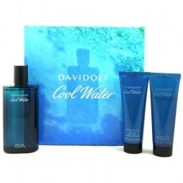 Davidoff Cool Water - Комплект за мъже ЕДТ 125 мл. + Душ гел 75 мл. + Афтършейв балсам 75 мл.-Парфюми