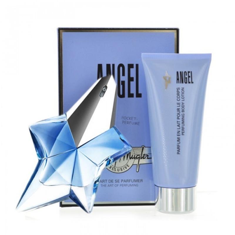 Комплект за жени Thierry Mugler Angel Refillable - Парфюмна вода EDP 50 мл + Лосион за тяло BL 100 мл-Парфюми