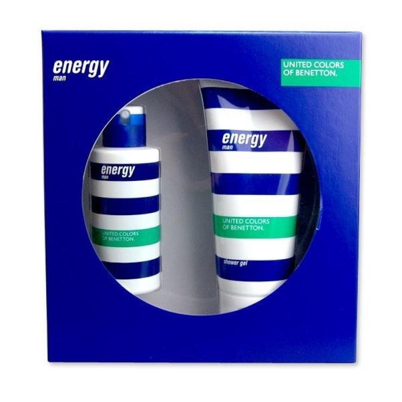 Benetton Energy комплект Тоалетна вода + Душ гел за мъже EDT + SG 100 мл + 200 мл-Парфюми
