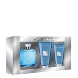 Azzaro Chrom Комплект за мъже - Тоалетна вода 30 мл. + Афтършев балсам 30 мл. +Душ гел 50 мл.-Парфюми
