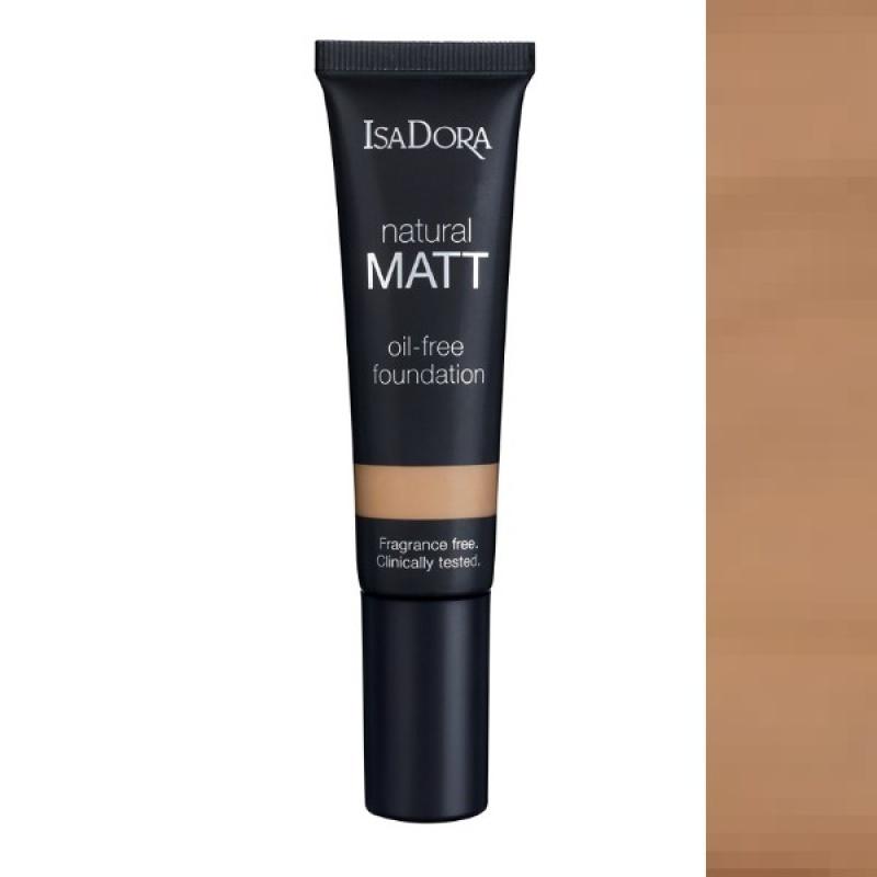 Матиращ фон дьо тен IsaDora Natural Matt 18, Matt Almond-Козметика