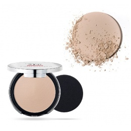 Матиращ компактен Фон дьо тен Pupa Extreme Matt Compact Powder Foundation With Natural Matt Effect 020 Light Beige-Козметика