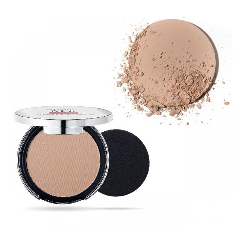 Матиращ компактен Фон дьо тен Pupa Extreme Matt Compact Powder Foundation With Natural Matt Effect 050 Sand-Козметика