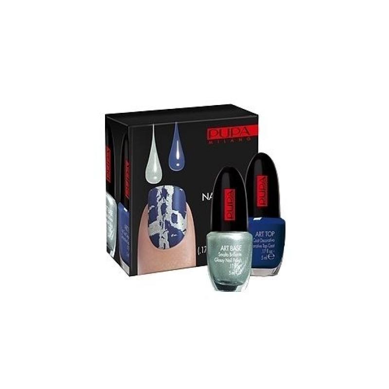 Комплект за декорация на нокти Pupa Nail Art Kit City Safari 22, Aquamarine And Blue-Козметика