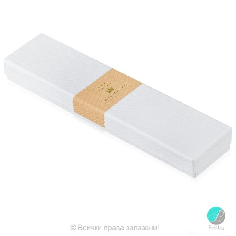 """Gift box - Подаръчна продълговата кутия """"Just for you"""" Box1103-"""