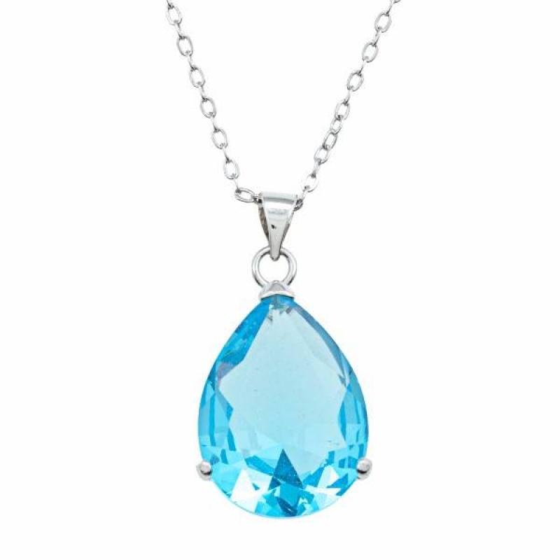 Cosima - Сребърна висулка със Син Топаз 1381181237T-Естествени камъни