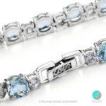 Florence - Сребърна гривна с Топаз s1710-Естествени камъни