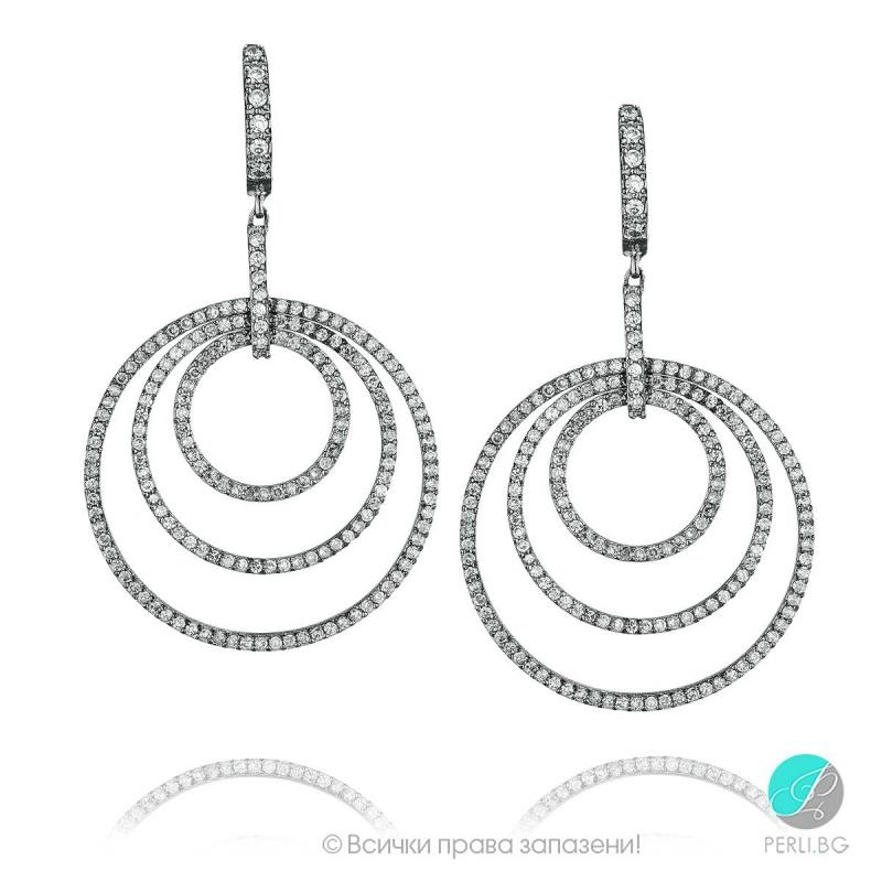 Kasey - Сребърни обеци с Цирконий s8470-Сребърни бижута