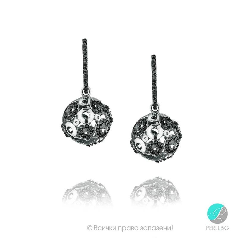 Roxie - Сребърни обеци топче с Циркони s1242-Сребърни бижута
