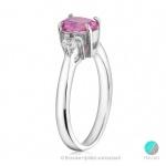 Rose - Сребърен пръстен с Топаз и Циркони 191s-Естествени камъни