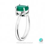 Tanya - Сребърен пръстен с Ахат 351s-Естествени камъни