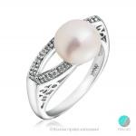 Evita - Сребърен пръстен с Перла АА 8.5 мм 11275-Пръстени
