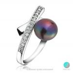 Joelle - Сребърен пръстен с Перла и Циркони АА 9.5 - 10 12318-Пръстени