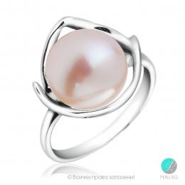 Mabel - Сребърен пръстен с Перла АА 10.5 мм 10403-Пръстени