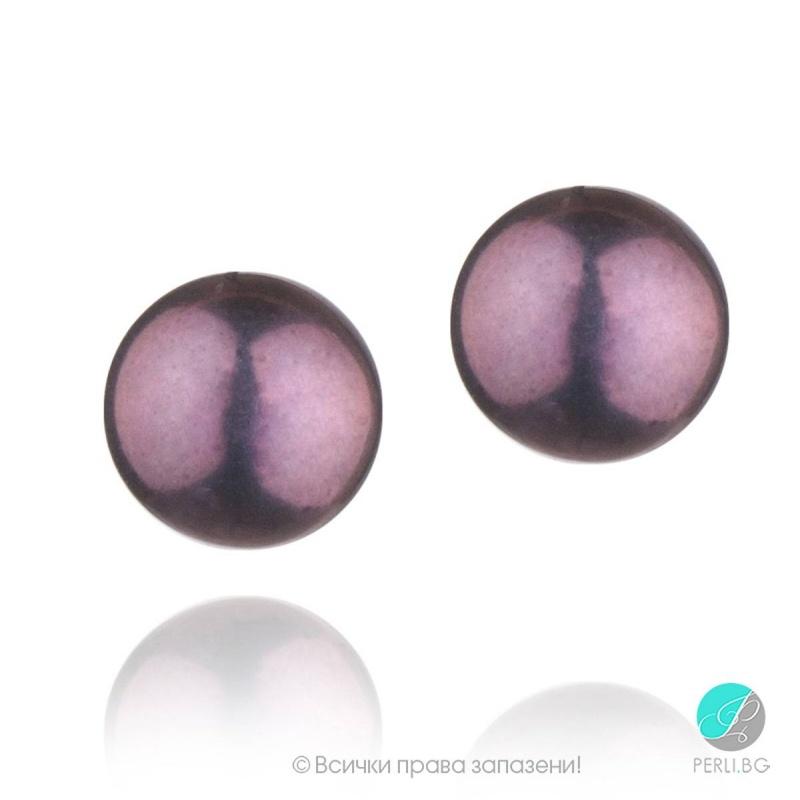 Natale обеци -  Перла със сребро  A  8 - 8.5  мм 28515304-Обеци