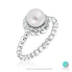 Maiko - Сребърен пръстен с Перла А 6 мм 253823074-Пръстени