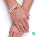 Romina гривна - триредна гривна перли  АА  7 мм-Гривни