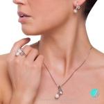Chiara висулка -  Перла със сребро  A  8 - 11 мм.-Висулки