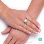 Minako - Сребърен пръстен с Перла АА 13 мм  253821069-Пръстени