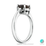 Pierina - Сребърен пръстен с Опушен кварц 1312S-Естествени камъни