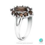 Aldemira - Сребърен пръстен с Опушен кварц 1336S-Естествени камъни