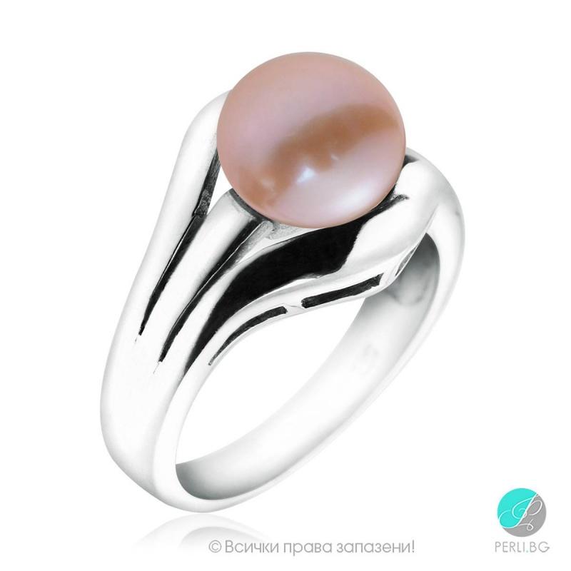 Masami - Сребърен пръстен с Перла АА 92320L-Пръстени