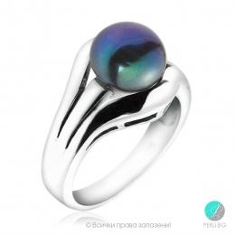 Masami - Сребърен пръстен с Перла  АА 92320-Пръстени