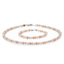 Комплекти - Бижута с перли и сребро