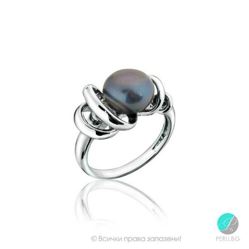 Viviana - Сребърен пръстен с перла AA 9-9.5 мм - 10827T-Пръстени